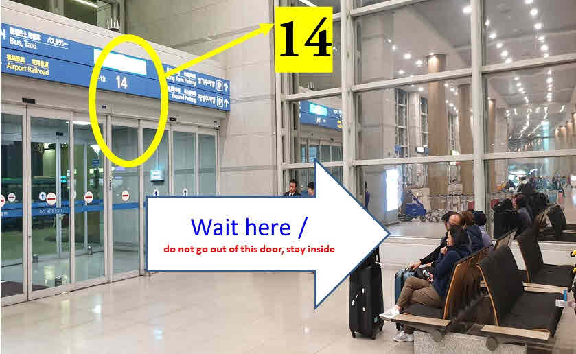 incheon airport terminal 1 pickup location