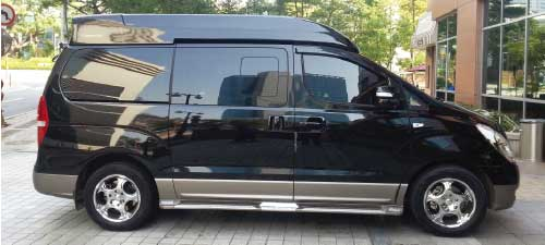 limo van rental with driver, Korea Car Rental with driver
